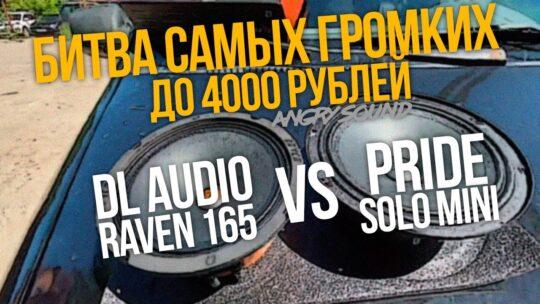 Выбираем лучшую эстраду до 4000р/DL Audio Raven 165 VS Pride Solo Mini